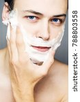 close up of face of man... | Shutterstock . vector #788803558