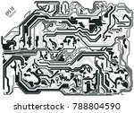 abstract electronic board... | Shutterstock .eps vector #788804590