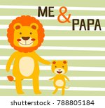 lion's family  father and son | Shutterstock .eps vector #788805184