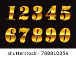 gold numbers set.vector golden... | Shutterstock .eps vector #788810356