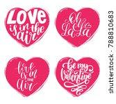 vector hand lettering phrases... | Shutterstock .eps vector #788810683