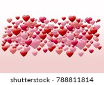 valentines day design with... | Shutterstock . vector #788811814