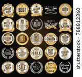 retro vintage golden badges... | Shutterstock .eps vector #788812360