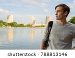 portrait of young handsome man... | Shutterstock . vector #788813146
