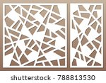 set decorative card for cutting.... | Shutterstock .eps vector #788813530