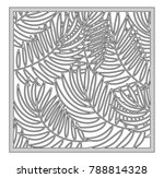 template for cutting. palm...   Shutterstock .eps vector #788814328