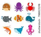 animal ocean aquatic underwater ...   Shutterstock .eps vector #788815198