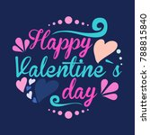 st. valentine's card   with h... | Shutterstock .eps vector #788815840