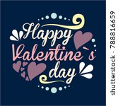 st. valentine's card   with h... | Shutterstock .eps vector #788816659