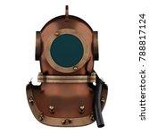 underwater diving scuba helmet. ... | Shutterstock . vector #788817124