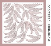 decorative card for cutting.... | Shutterstock .eps vector #788817700