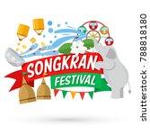 songkran festival  banner  thai ... | Shutterstock .eps vector #788818180