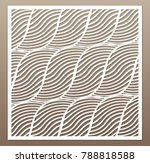 decorative card for cutting.... | Shutterstock .eps vector #788818588