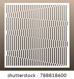 decorative card for cutting.... | Shutterstock .eps vector #788818600