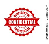 confidential grunge rubber... | Shutterstock .eps vector #788819074