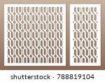 set decorative card for cutting.... | Shutterstock .eps vector #788819104