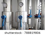 manometer  pipes and faucet... | Shutterstock . vector #788819806