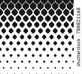raster halftone pattern ... | Shutterstock . vector #788821168