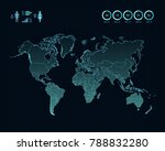 world map with different...   Shutterstock .eps vector #788832280