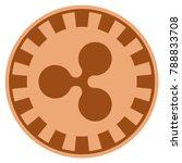 ripple copper casino chip... | Shutterstock .eps vector #788833708
