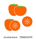 persimmon logo. isolated... | Shutterstock .eps vector #788836399