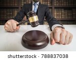 justice concept. lawyer is... | Shutterstock . vector #788837038