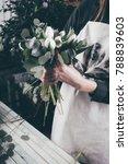 florist at work on arragment... | Shutterstock . vector #788839603