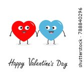 happy valentines day sign...   Shutterstock .eps vector #788840296