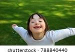 portrait of little girl smiling ... | Shutterstock . vector #788840440