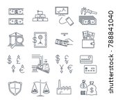 set of thin line icons business ... | Shutterstock .eps vector #788841040