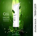 luxury cosmetic bottle package...   Shutterstock .eps vector #788841859