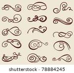 set of calligraphic ornaments | Shutterstock .eps vector #78884245