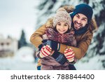 handsome young dad and his... | Shutterstock . vector #788844400