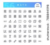 set of 56 math line icons... | Shutterstock .eps vector #788844598