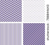 ultra violet seamless patterns. ... | Shutterstock .eps vector #788844643