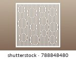 decorative card for cutting.... | Shutterstock .eps vector #788848480