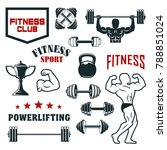 fitness sport club  gym and... | Shutterstock .eps vector #788851024