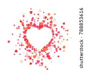 big heart is torn to pieces.... | Shutterstock .eps vector #788853616