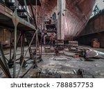 vessel in the dock. shipyard...