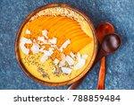 healthy breakfast mango... | Shutterstock . vector #788859484