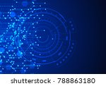 vector abstract futuristic... | Shutterstock .eps vector #788863180