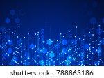 vector abstract futuristic... | Shutterstock .eps vector #788863186