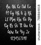 handwritten brush style modern... | Shutterstock .eps vector #788864818