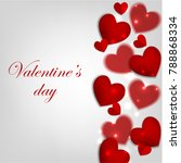 valentines day card with red... | Shutterstock .eps vector #788868334