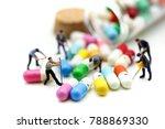 miniature people   man working... | Shutterstock . vector #788869330