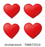 perfect red hearts set | Shutterstock .eps vector #788872510