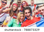 happy sport supporters having... | Shutterstock . vector #788873329