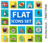 country denmark flat icons in... | Shutterstock .eps vector #788873968