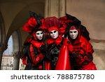 venice  italy   february 27 ... | Shutterstock . vector #788875780