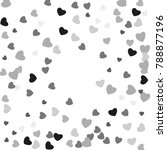 hearts confetti  bright... | Shutterstock .eps vector #788877196